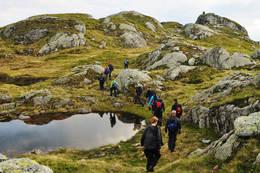På veg til Flatenipa - Foto: Oddgeir Havn