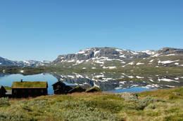 Haukeliseter fjellstue. her går du på andre siden av ståvatn og nedsiden av Kista - Foto: Haukeliseter fjellstue