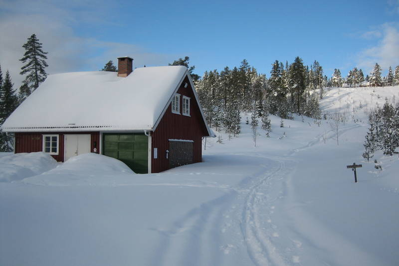Vinteridyll ved Flekkerhytta.