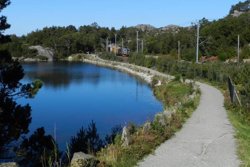 Langs gammel jernbane Hellvik Egersund