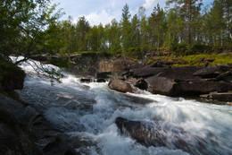 Om våren er Falkelva ganske heftig -  Foto: Kjell Fredriksen