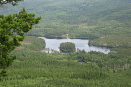 Utsikt over rotnadalen mot nordøst fra Hof Finnskog. - Foto: Stein  Briskerud