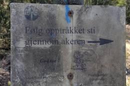 Skilt med angivelse av stivalg - Foto: V. W. Nilsen
