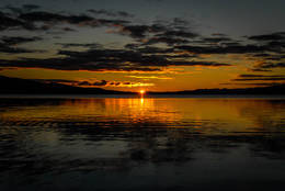 Solnedgang over Snåsavatnet - Foto: Olgeir Haug