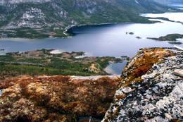 Utsyn fra Raudhella og østover. -  Foto: Kjell Fredriksen