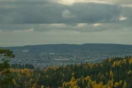Utsikt fra Ausenfjellet - Foto: Øystein Berntsen