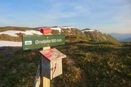 Turmål Ørnefjell med Kariknausen i bakgrunnen -  Foto: Jan Roar Sekkelsten