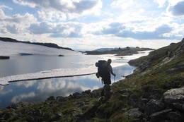 Bildet er tatt etter en lang dags marsj mot vest - Foto: Ingeborg Lobben Gjennestad