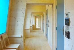 Arktitektur også i gangen mellom rommene - Foto: Preikestolen fjellstue