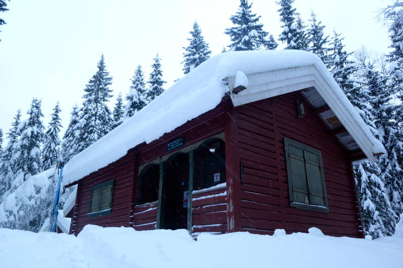 Sinnerdammen på Ringkollen, Nordmarka, 29.1.2012,