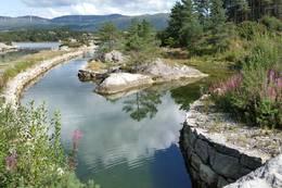Kanalen ved Port Steingard inn mot Hellandsfjorden - Foto: JT