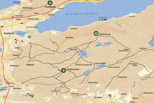 kart emblemsfjellet Høgkubben på Emblemsfjellet i Ålesund   Tur   UT.no kart emblemsfjellet