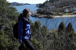Sandøya byr på fine utkikkspunkt -  Foto: Grete Rokstad