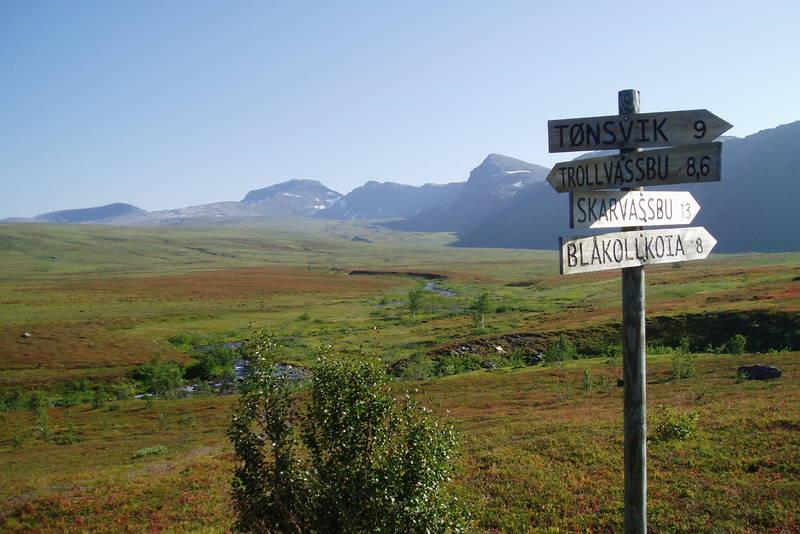 Nydelig ved Nonsbu, på traseen Snarby-Trollvassbu-Nonsbu-Skarvassbu-Tromsdalen