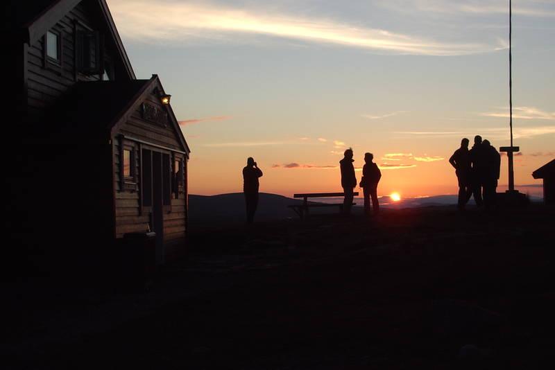 Solnedgang på Stigstuv etter en fantastisk flott dag