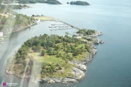 Vinnesholmen fra luften fra nord - Foto: Simen Soltvedt