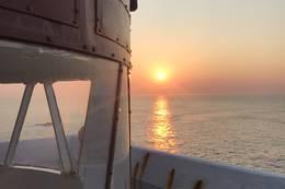 Solnedgang i April - Foto: