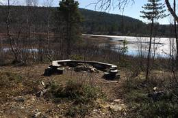 Bålplassen ved Divran -  Foto: Ann Kristin Holmestrand