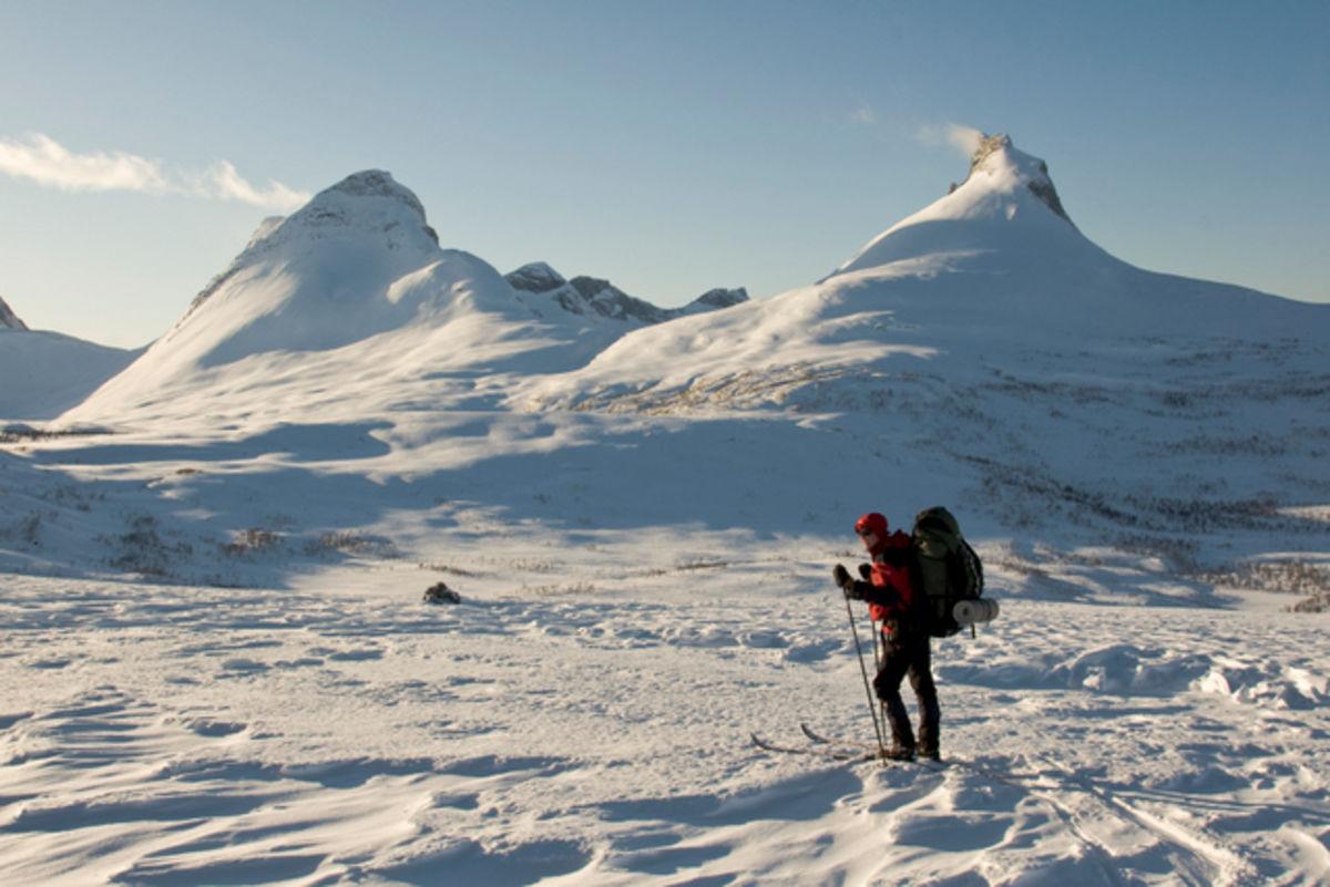 Rett før nedkjøring til Lurfjellhytta når en kommer fra Beiarfjellet