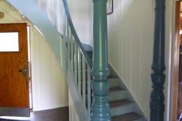 Trappa opp til soverommene er robust - Foto: Roy Erik Sund