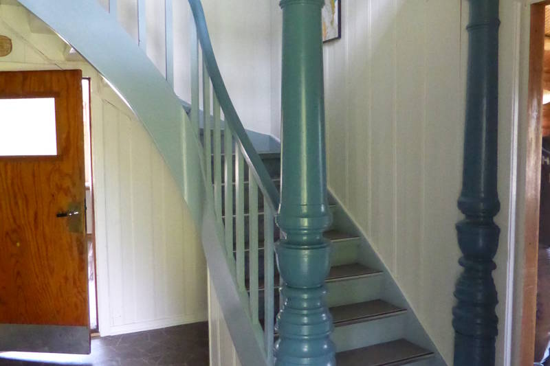 Trappa opp til soverommene er robust