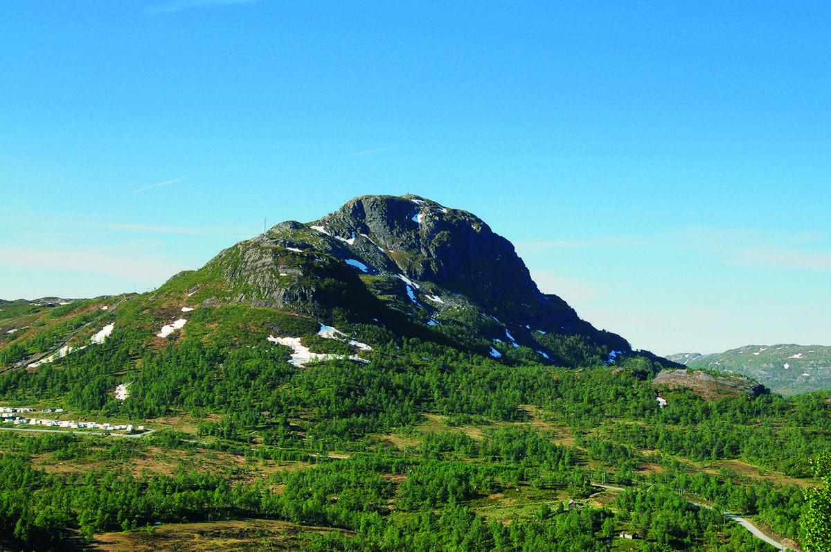 Gullingen har en imponerende profil. Her sett fra  Stavastøl.