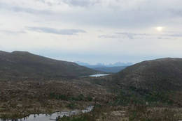 Utsikt ned mot Stoullo og Krokvatnet fra Kvinnefjellet - Foto: Jan Inge Westermann