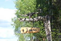 Skiltet til Lauvlia viser til Th. Kittelsens hjem.  - Foto: Hilde Roland