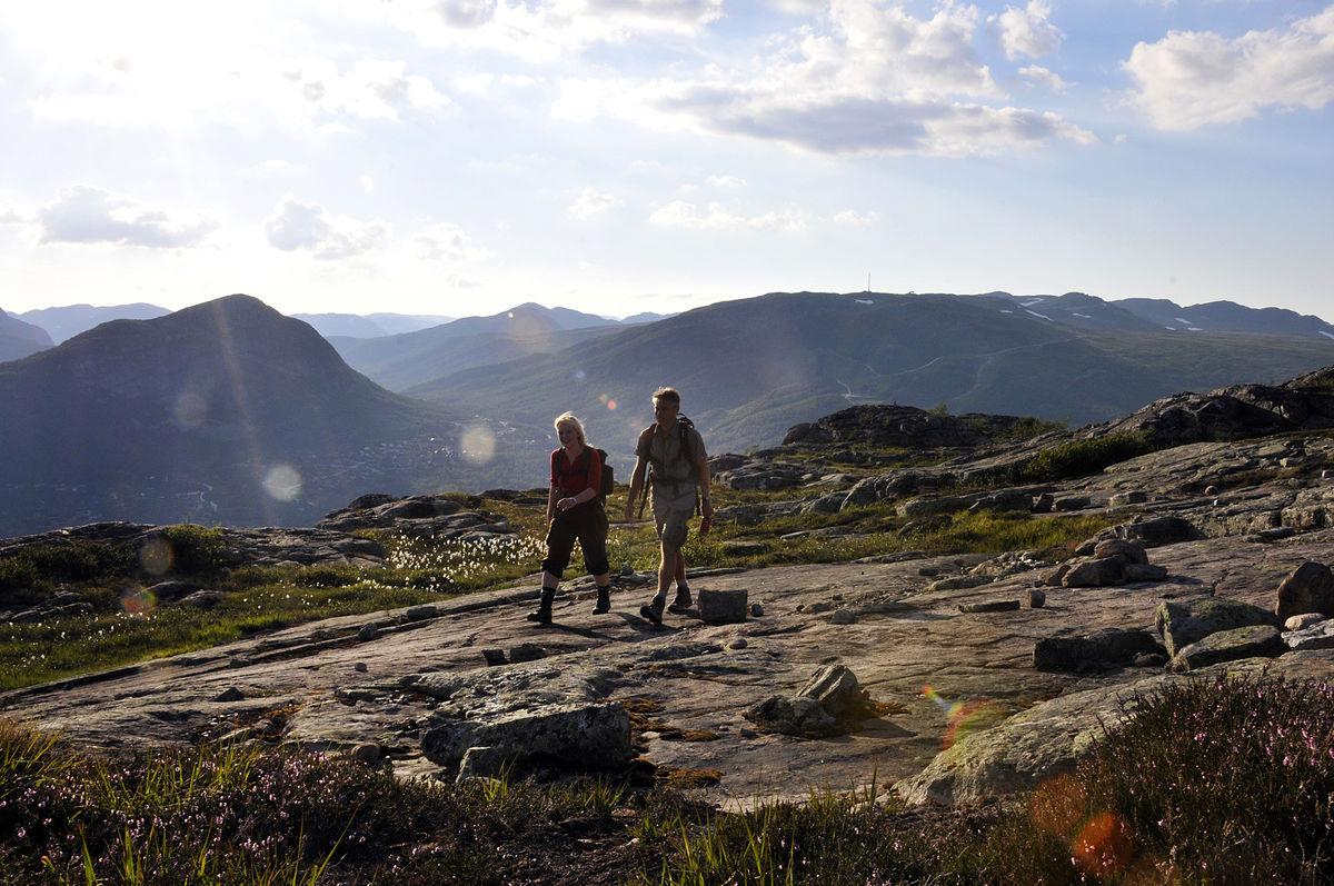 Ved Hovden Fjellstoge finner du godt merkede turløyper som passer både for store og små.