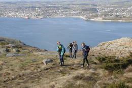 Ta en tur med utgangspunkt fra friluftshuset på Gramstad. Her på vei til Dalsnuten med utsikt over Sandnes -  Foto: Odd Inge Worsøe