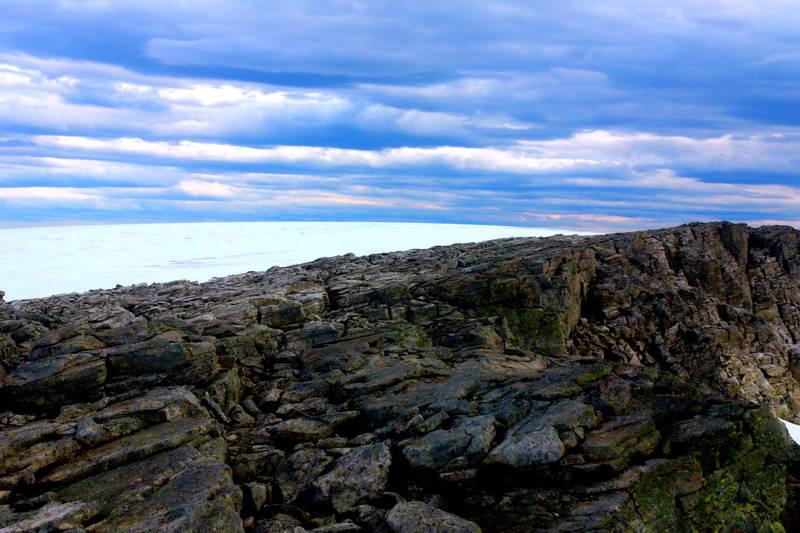 Fra varden ved Ålfotbreen,mot toppen av breen.
