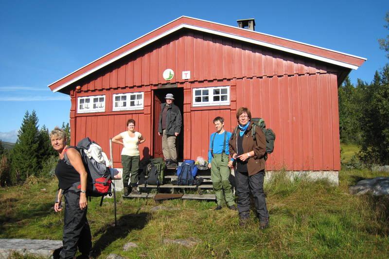 Klare for avreise fra Dagrøhytta