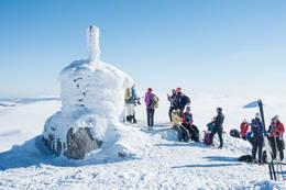 På turen passerer du Hallingnatten (1314 m.o.h.) - Nesbyens høyeste topp -  Foto: Lars Storheim