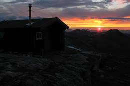 Solnedgang sett fra Vasstindbu,1200 moh. - Foto: Arld Sele