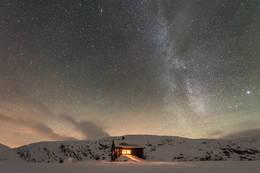kaldavasshytta natt, foto Espen Haagensen - Foto: