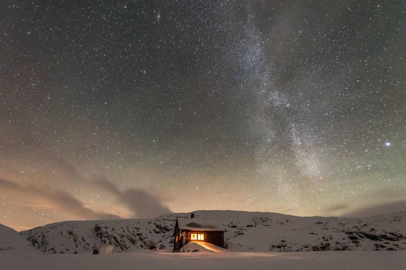 kaldavasshytta natt, foto Espen Haagensen