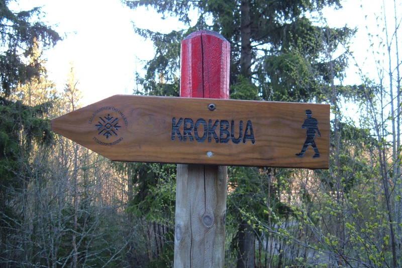Skilting mot Krokbua