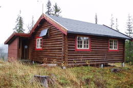 Inngangspartiet på hytta -  Foto: Nord-Trøndelag Turistforening
