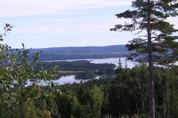 Utsikt fra Bjørnlihaugen mot Storsjøen. - Foto: Raymond Lishaugen
