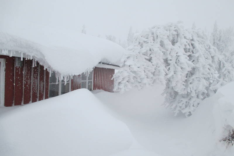 Mye snø i fjellet i 2014 der det som kom som regn i lavlandet kom som snø i fjellet.