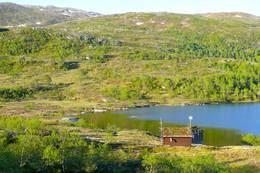 Lukehuset ved dammen - Foto: Jan Roar Sekkelsten