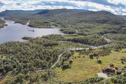Utsikt mot Ossjøen - Foto: Åan Turisthytte