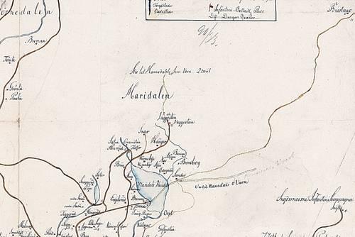 kart over maridalen Et gammelt veifar fra Sander i Maridalen til Bjertnes i Nittedal  kart over maridalen
