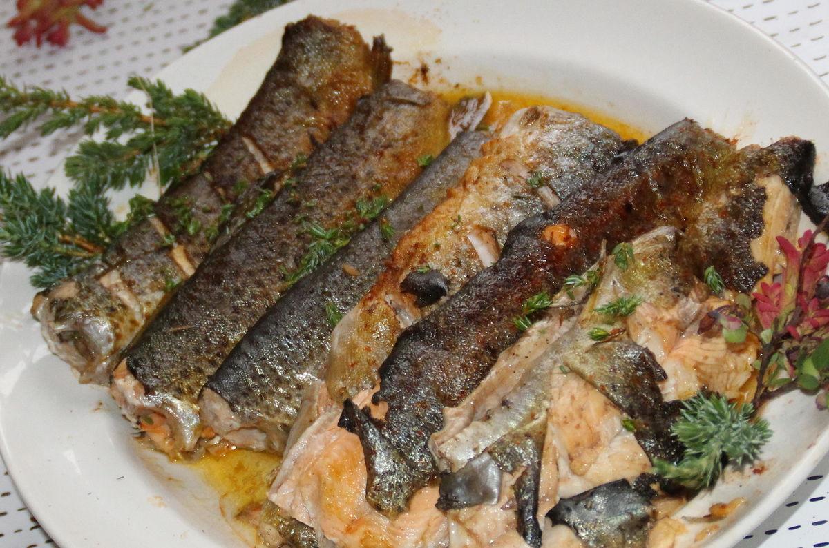 Aburøykt fisk på Stavali Turisthytte