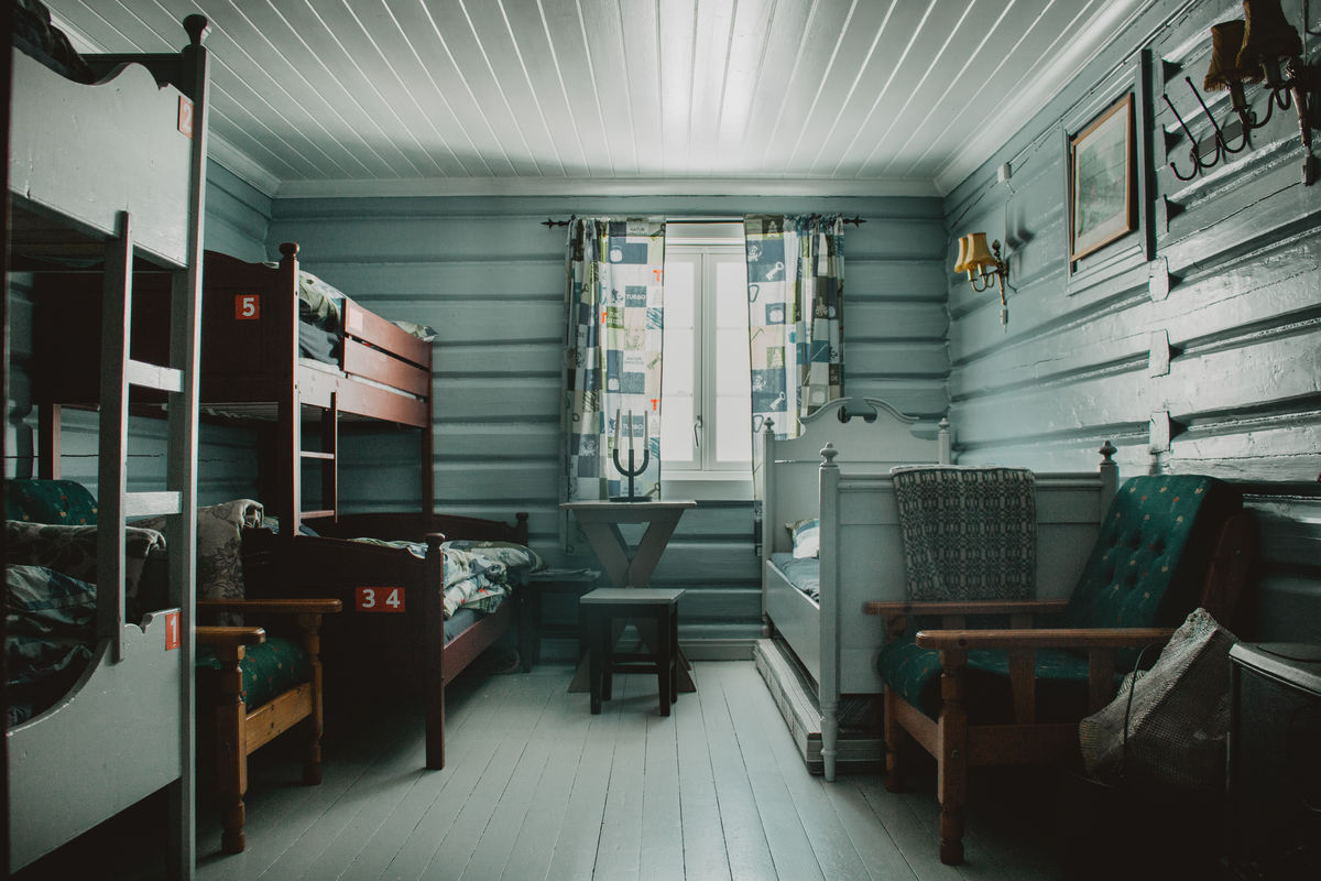 Rom nr. 4. Her pleide Nansen å bo da han besøkte Høgevarde