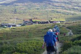 På veg mot Grimsdalshytta - Foto: Hilde Løken Magnussen