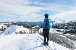 På vei mot Sjåfunatten. Høgelinatten til høyre - Foto: Lars Storheim