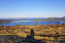 Fra toppen - utsikt mot nord - Foto: Kjell Fredriksen