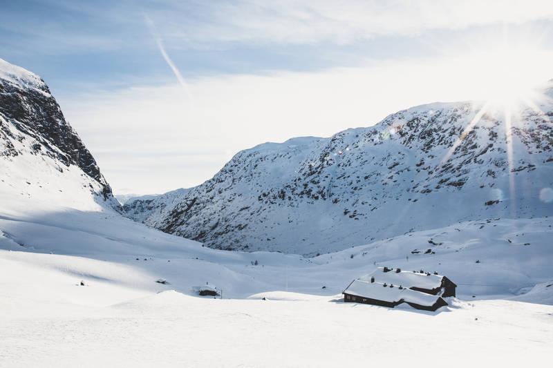 Vakker vinterstemning ved Nørdstedalseter