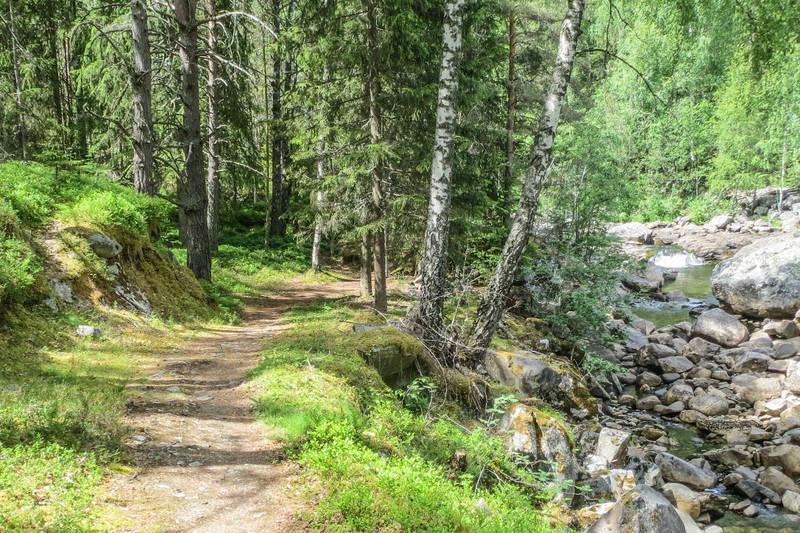 Idyllisk sti langs Rukkedøla